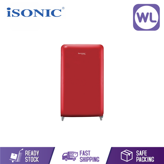Picture of iSONIC Vintage Refrigerator IS-170R (RED)