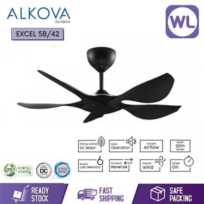 Picture of ALKOVA CEILING FAN EXCEL 5B/42 MATT BLACK