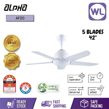 Picture of ALPHA CEILING FAN AF20-5B/42 WHITE