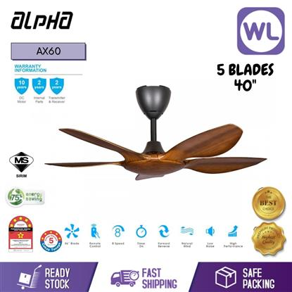 Picture of ALPHA CEILING FAN AX60/5B 40 WALNUT