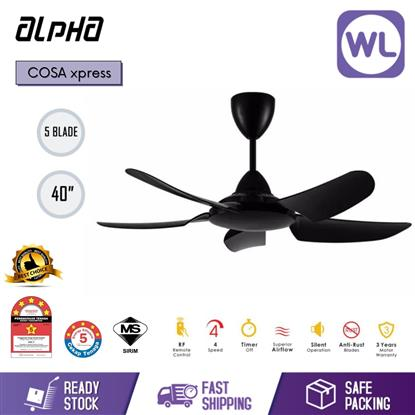 "Picture of ALPHA CEILING FAN COSA XPRESS 40"" BLK"