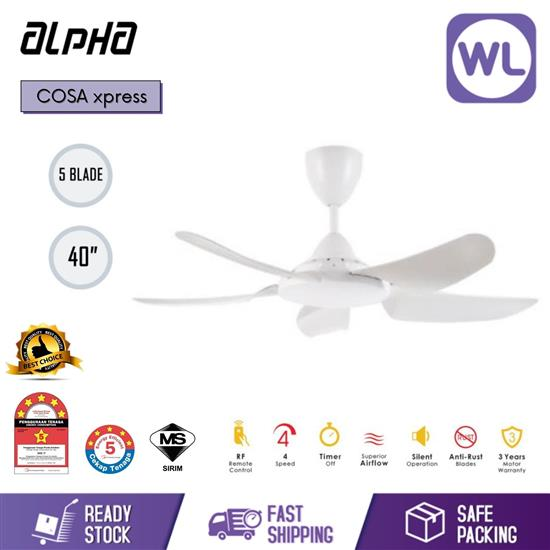 """Picture of ALPHA CEILING FAN COSA XPRESS 40"""" WHT"""