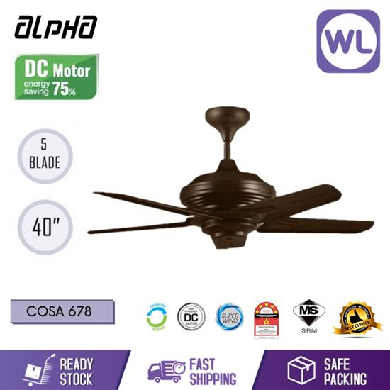 Picture of ALPHA CEILING FAN COSAS 678 40'' (5 BLADES/ BROWN)