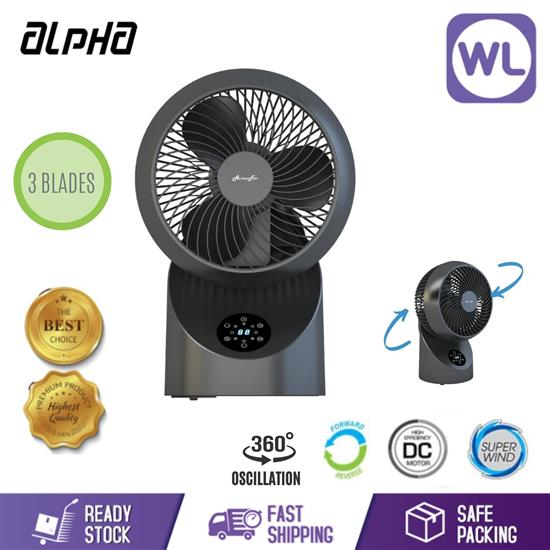 """Picture of ALPHA TABLE FAN MOTTO DT360 7"""" (BLACK)"""