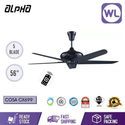 "Picture of ALPHA CEILING FAN COSA CX-699PWT (4 SPEED/ 56"")"
