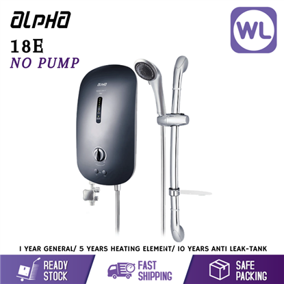 Picture of ALPHA HOME SHOWER SMART 18E (NO PUMP/ METAL BLACK)
