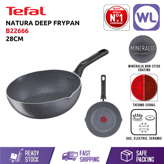 Picture of TEFAL COOKWARE NATURA DEEP FRYPAN B22666 (28CM)