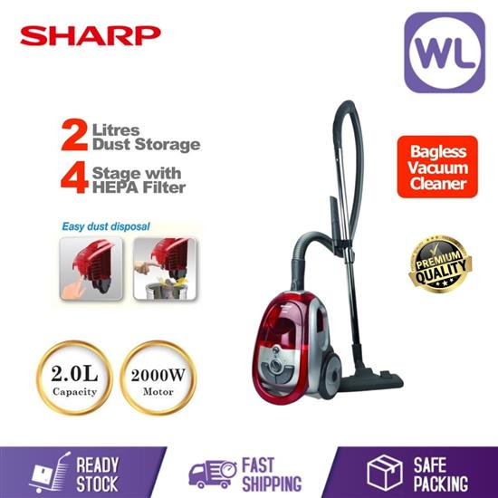Picture of SHARP BAGLESS VACUUM CLEANER ECLS20R/V