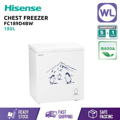 Picture of HISENSE CHEST FREEZER FC189D4BW (180L/ WHITE)
