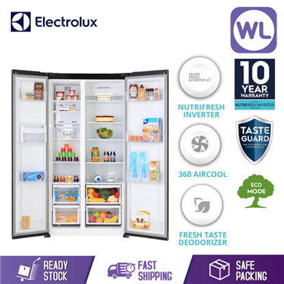 Picture of ELECTROLUX SIDE BY SIDE FRIDGE ESE5301AG-MY (541L/ ARCTIC SILVER)