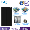 Picture of BEKO SIDE BY SIDE FRIDGE GN163130ZGB (91CM/ BLACK/ GLASS)