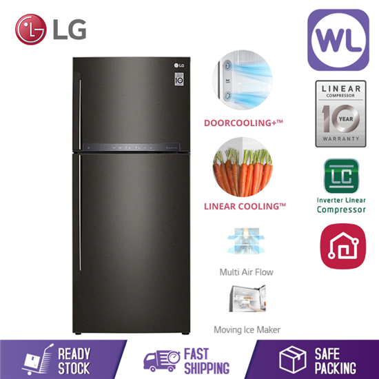 Picture of LG FRIDGE GN-H432HXHC (437L/ BLACK METAL)