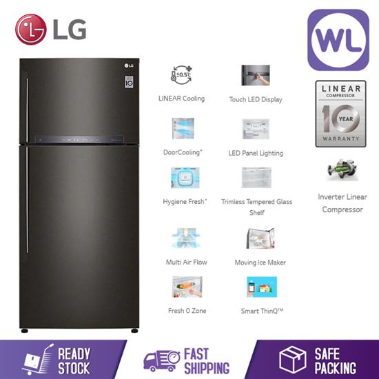 Picture of LG FRIDGE GN-H602HXHC (516L/ BLACK METAL)
