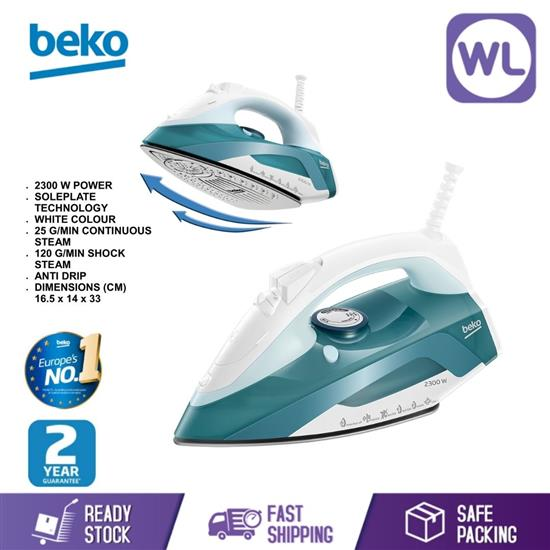 Picture of BEKO STEAM IRON SIM4123T (2300W/ GREEN)