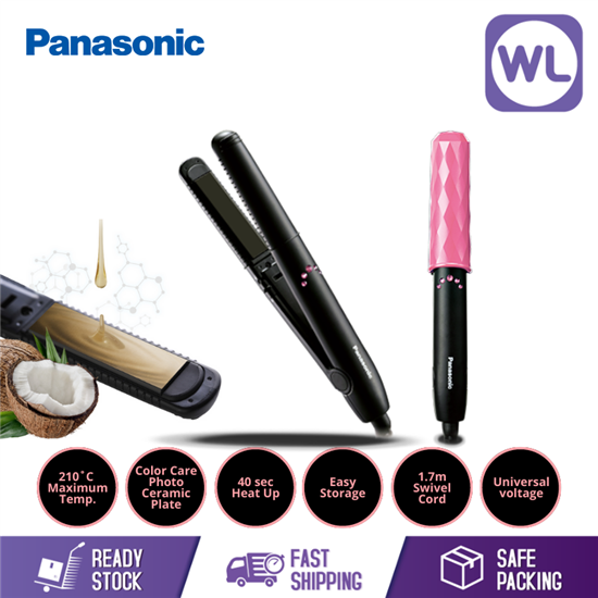 Picture of PANASONIC COMPACT HAIR STRAIGHTENER & CURLER EH-HV11K (BLACK)
