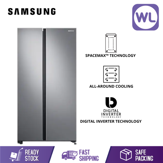 Picture of SAMSUNG SIDE BY SIDE FRIDGE RS62R5031SL (680L/ SILVER)