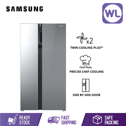 Picture of SAMSUNG SIDE BY SIDE FRIDGE RS55K50A02A/ME (536L/ SILVER)