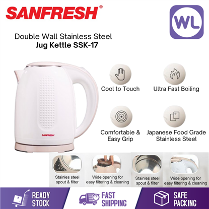 Picture of Sanfresh Double Wall Stainless Steel Jug Kettle SSK-17