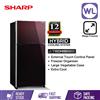 Picture of SHARP PELICAN REFRIGERATOR SJP68MFGM (610L/ MAROON)