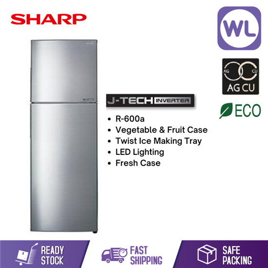 Picture of SHARP SMILE REFRIGERATOR SJ326MSS (320L/ SILVER)