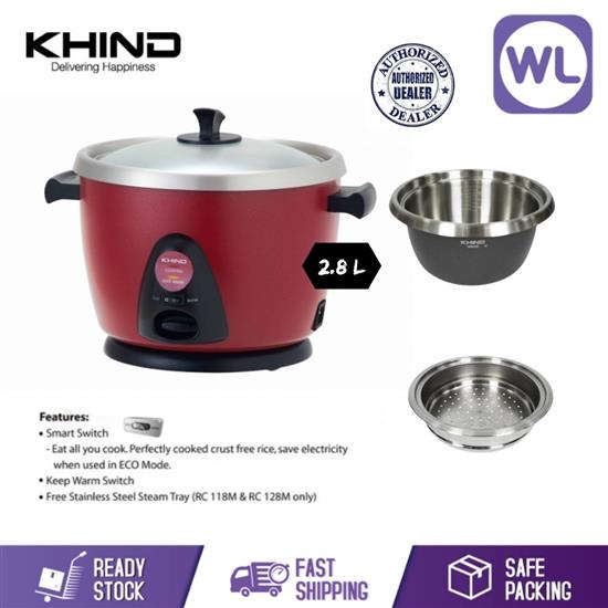 Picture of KHIND ANSHIN RICE COOKER RC128M (SMART SWITCH)