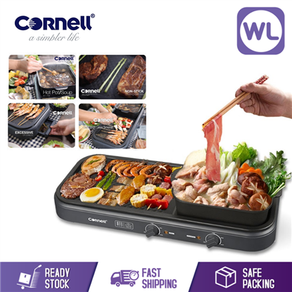 Picture of CORNELL TABLE GRILL WITH HOT POT CCG-EL98DT