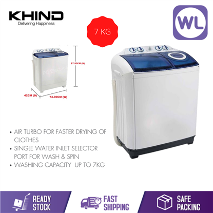 Picture of KHIND 7kg SEMI AUTO WASHER WM 717