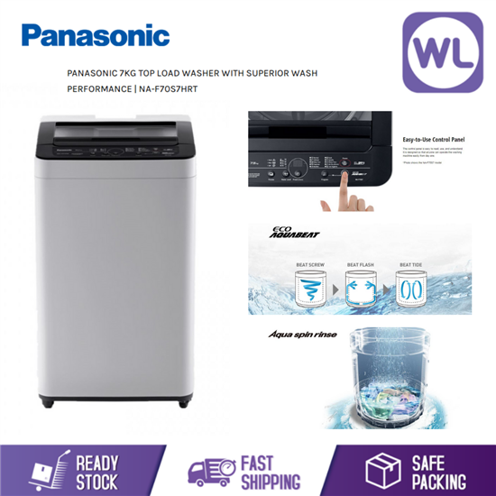Picture of PANASONIC 7kg TOP LOAD WASHER NA-F70S7HRT