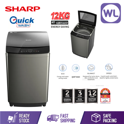 Picture of SHARP 12kg FULL AUTO TOP LOAD WASHER ESY1219