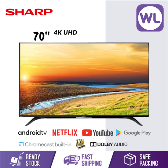 Picture of SHARP 70'' AQUOS 4K UHD ANDROID TV 4TC70BK1X