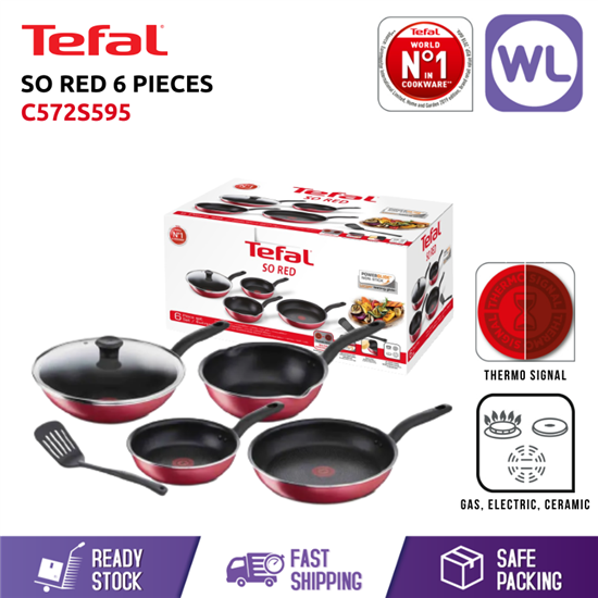 Picture of TEFAL SO RED 6 PIECES SET C572S595 (GIFT BOX)