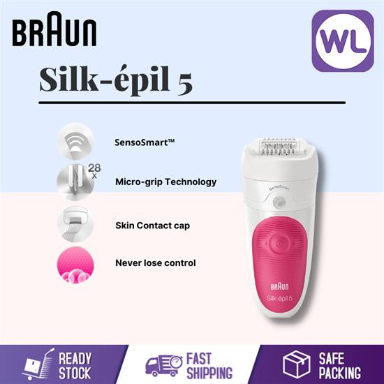 Picture of BRAUN SILK-EPIL 5 SENSO SMART WET & DRY EPILATOR SES5/500