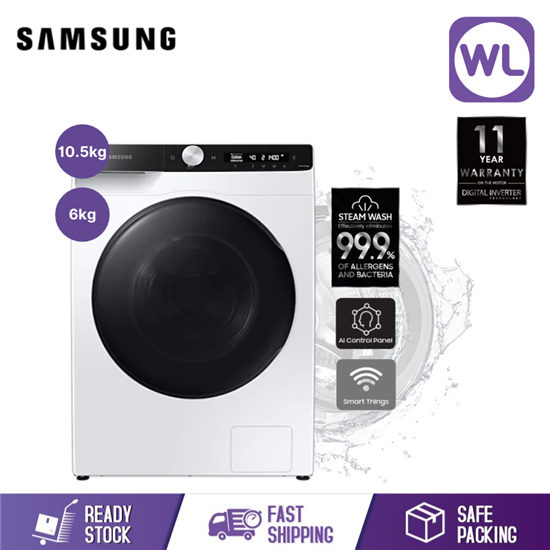 Picture of SAMSUNG 10.5/6kg FRONT LOAD WASHER DRYER WD10T504DBE/FQ