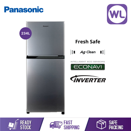 Picture of PANASONIC 2-DOOR TOP FREEZER REFRIGERATOR NR-BL263VPMY (234L/ SILVER)
