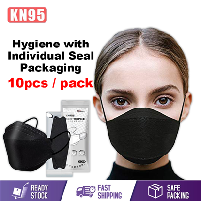 Picture of INDIVIDUAL PACK KOREA KN95 4 PLY DISPOSABLE FACE MASK (BLACK COLOR) 10PCS