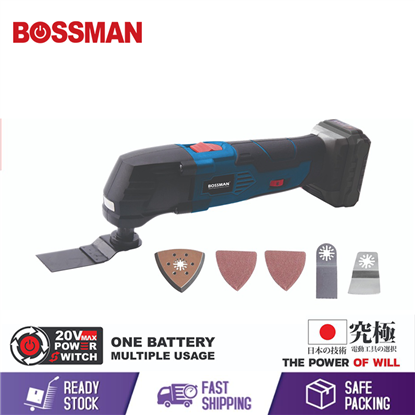 Picture of BOSSMAN 12V CORDLESS MULTI-TOOL (FREE ACCESSORIES)(SET CHARGER/2 X 1.5AH BATTERY)(BMT-12V)