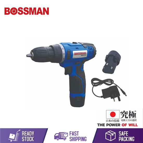 Picture of BOSSMAM 12V LITHIUM-ION CORDLESS DRILL (2 SPEED)(FREE 2 PCS 12V BATTERY/CHARGER)(BDLC-12)