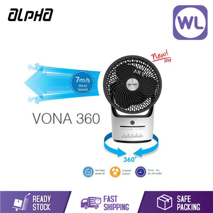 Picture of ALPHA ROTATING FAN VONA 360 WHITE