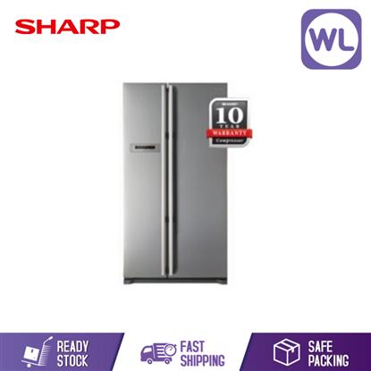 Picture of Sharp Side By Side 2 Door Fridge SJX65STSL (650L)