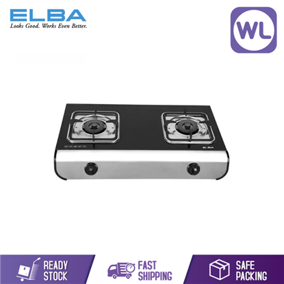 Picture of Elba Glass Stove 2 Burner Gas Cooker EGS-G7442SG (BLACK)