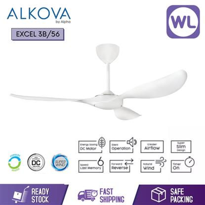 Picture of ALKOVA CEILING FAN EXCEL EXCEL 3B/56 WHITE
