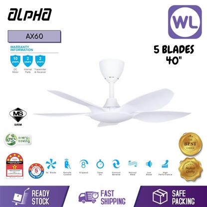 Picture of ALPHA CEILING FAN AX60/5B 40 WHITE