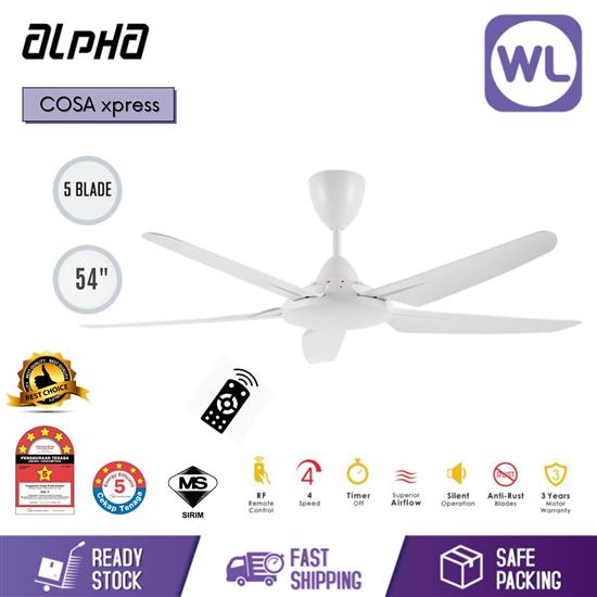 "Picture of ALPHA CEILING FAN COSA XPRESS 54"" WHT"