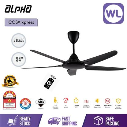 "Picture of ALPHA CEILING FAN COSA XPRESS 54"" BLK"