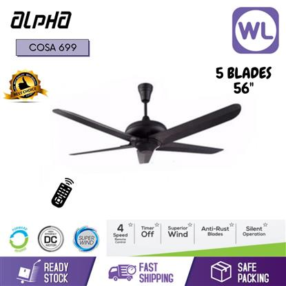 "Picture of ALPHA CEILING FAN COSA699PWT 4 SPEED (56"")"