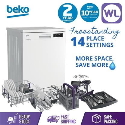 Picture of BEKO FREESTANDING DISHWASHER DFN28R22W (14 Place Settings & Full Size)