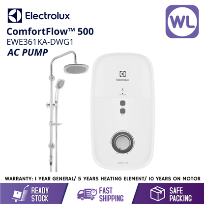 ELECTROLUX HOME SHOWER EWE361KA-DWG1 (AC PUMP/ RAIN/ GREY)的图片