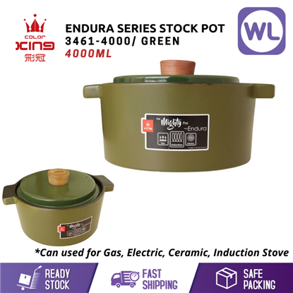 Picture of [4L/ INDUCTION] COLOR KING ENDURA STOCK POT (3461-4000/ GREEN)