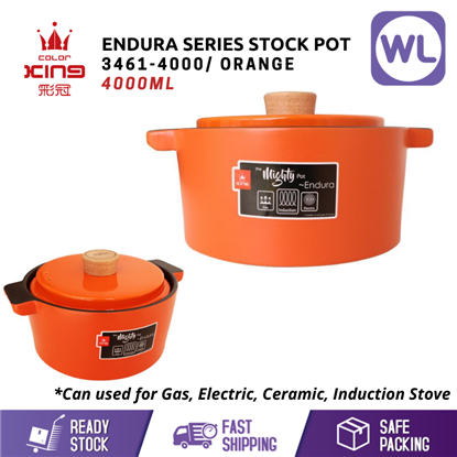 Picture of [4L/ INDUCTION] COLOR KING ENDURA STOCK POT (3461-4000/ ORANGE)