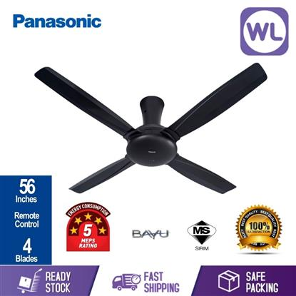Picture of PANA BAYU 4 BLADE CEILING FAN F-M14CZVBKH (BLACK/ 56'')